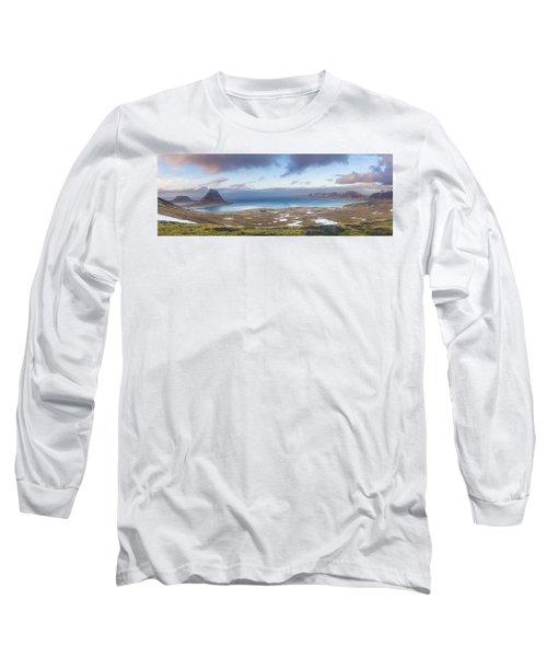 Kirkjufell And Grundarfjordur From On High Long Sleeve T-Shirt