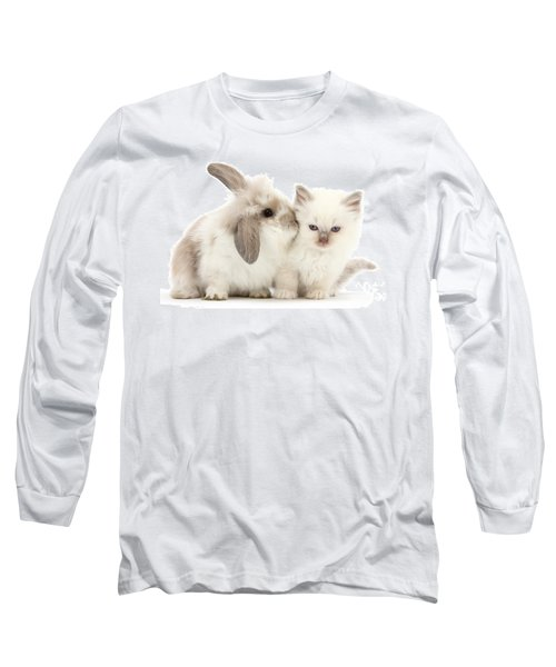 Kiss Her Fluffy Cheek Long Sleeve T-Shirt