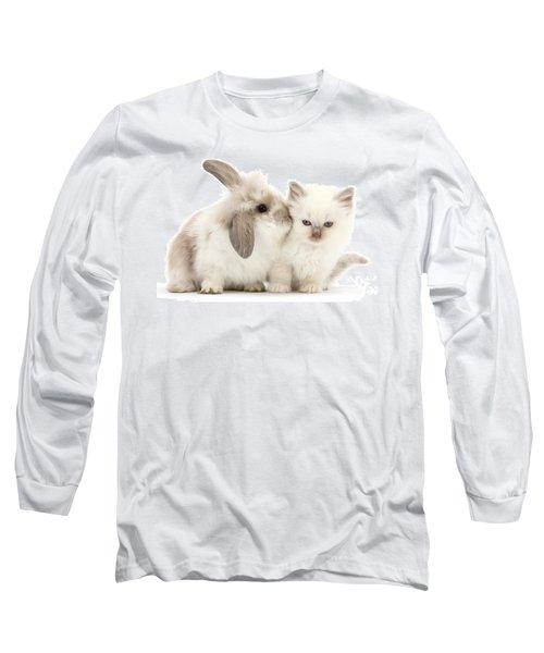 Kiss Her Fluffy Cheek Long Sleeve T-Shirt