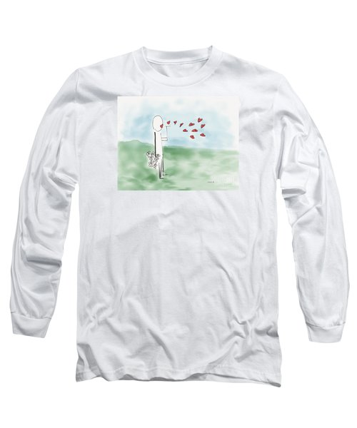 Long Sleeve T-Shirt featuring the photograph Kisses And Love   by Haleh Mahbod