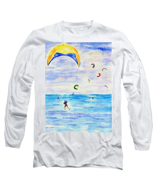 Kite Surfer Long Sleeve T-Shirt by Jamie Frier