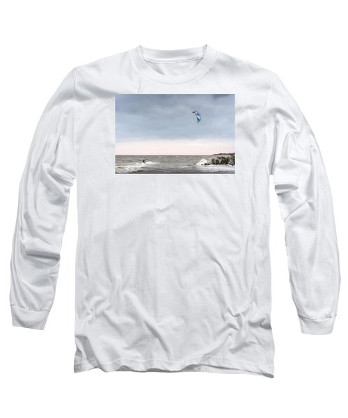 Kite Surfing On The Chesapeake Bay Long Sleeve T-Shirt