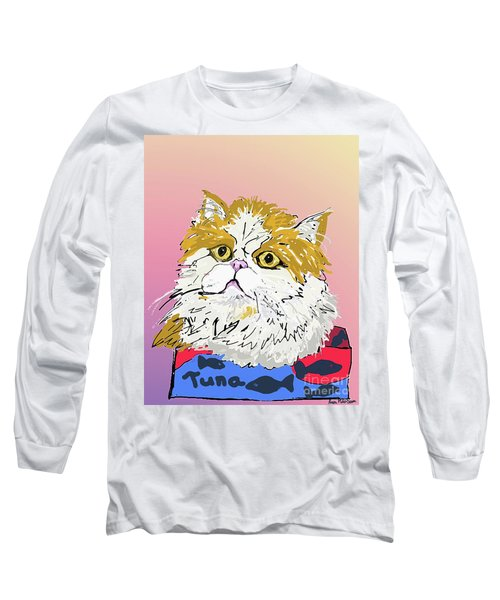 Kitty In Tuna Can Long Sleeve T-Shirt