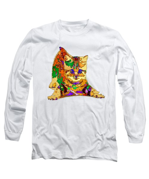 Kitty Love. Pet Series Long Sleeve T-Shirt