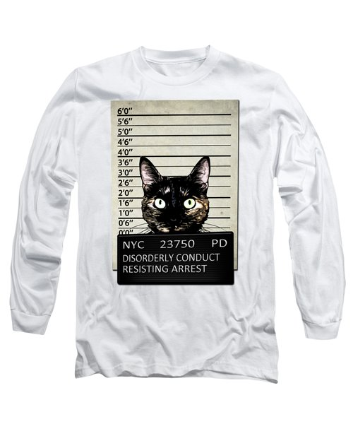 Kitty Mugshot Long Sleeve T-Shirt by Nicklas Gustafsson