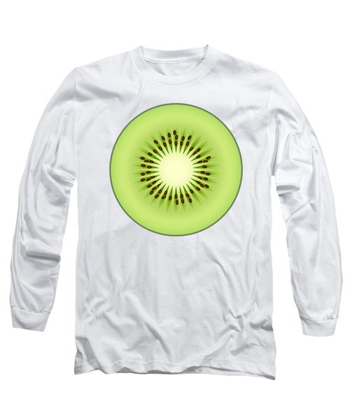 Kiwi Fruit Long Sleeve T-Shirt by Miroslav Nemecek