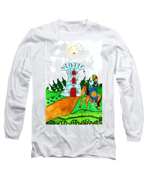 Brave Knight-errant And His Funny Wise Horse Long Sleeve T-Shirt by Don Pedro De Gracia