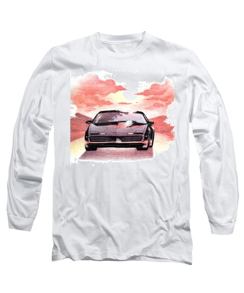 Long Sleeve T-Shirt featuring the digital art Knight Rider by Gina Dsgn