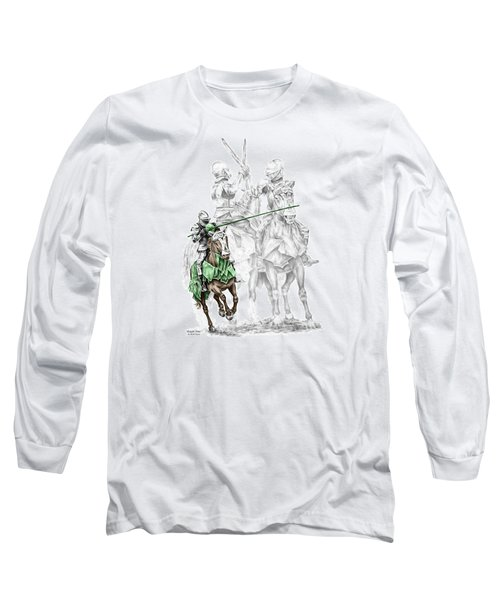 Knight Time - Renaissance Medieval Print Color Tinted Long Sleeve T-Shirt by Kelli Swan