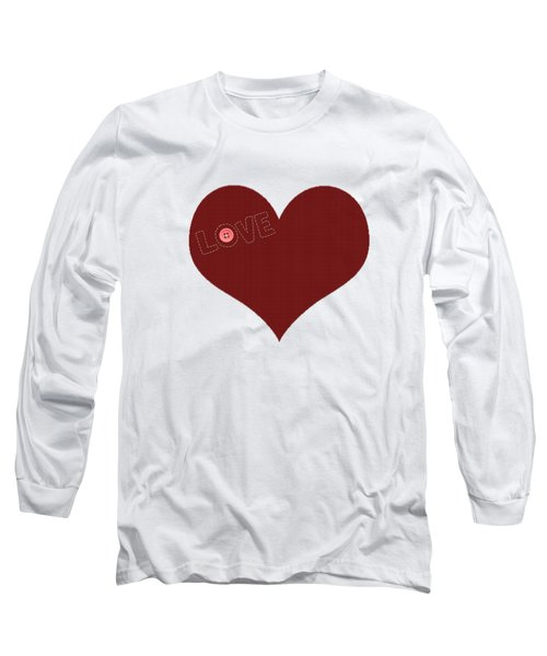 Knitted Heart.png Long Sleeve T-Shirt by Anton Kalinichev