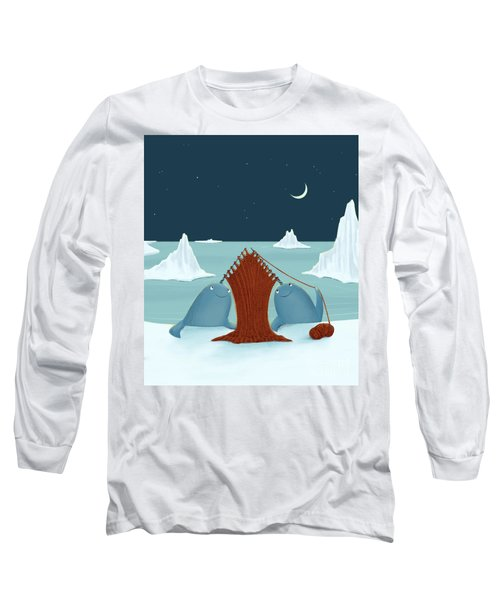 Knitting Narwhals Long Sleeve T-Shirt