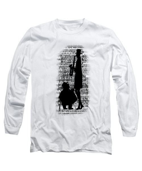 Knowing The Score Transparent Background Long Sleeve T-Shirt by Barbara St Jean