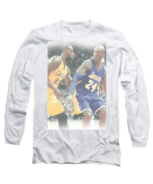 Kobe Bryant Lebron James 2 Long Sleeve T-Shirt by Joe Hamilton