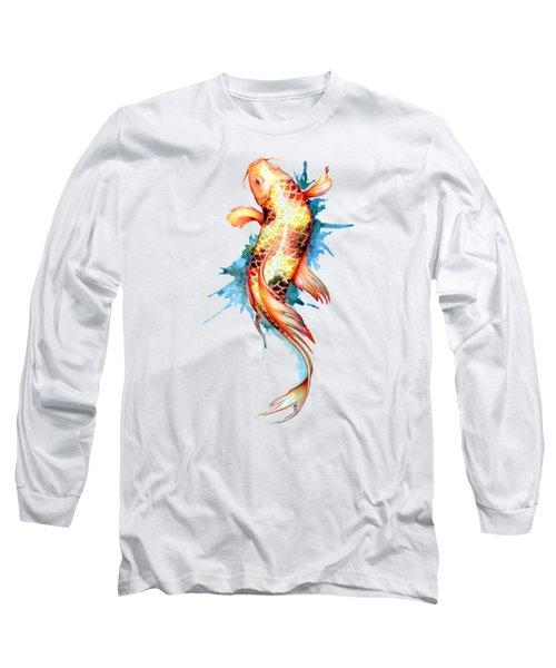 Koi Fish I Long Sleeve T-Shirt by Sam Nagel