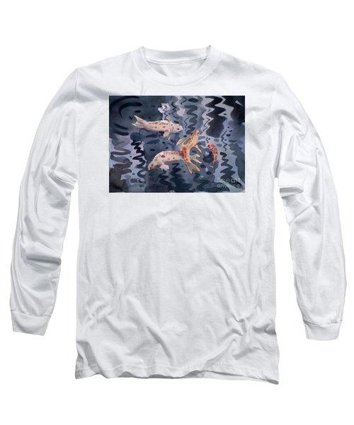 Koi Pond Long Sleeve T-Shirt by Donald Maier