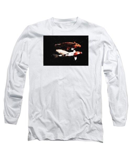 Koi Trio  Long Sleeve T-Shirt by Deborah  Crew-Johnson