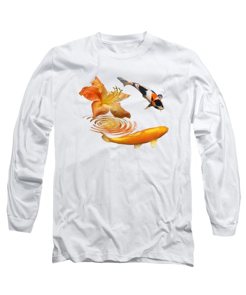 Koi With Azalea Ripples Long Sleeve T-Shirt