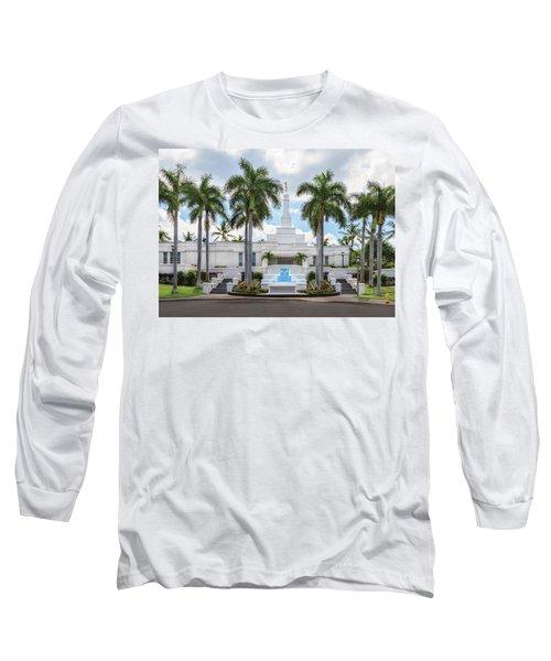 Kona Hawaii Temple-day Long Sleeve T-Shirt