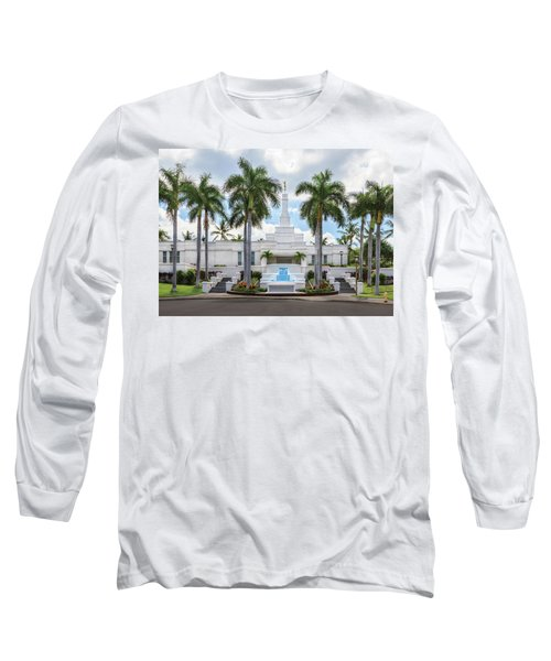 Kona Hawaii Temple-day Long Sleeve T-Shirt