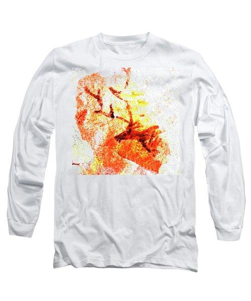 Kondane Deer Long Sleeve T-Shirt by Asok Mukhopadhyay