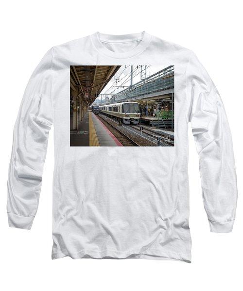Kyoto To Osaka Train Station, Japan Long Sleeve T-Shirt
