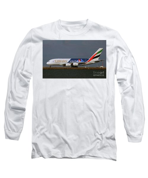 La Dodgers A380 Ready For Take-off At Sfo Long Sleeve T-Shirt