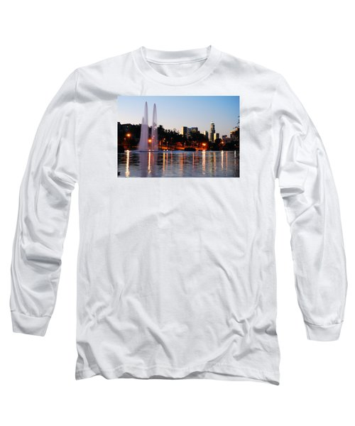Long Sleeve T-Shirt featuring the photograph La From Echo Lake by James Kirkikis