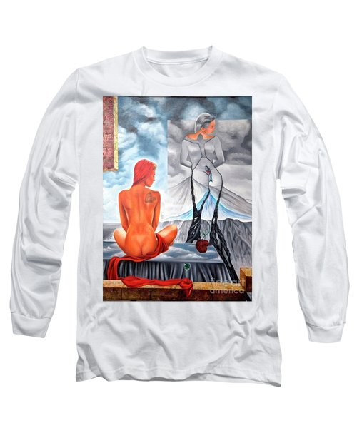 La Marcha Mas Larga Long Sleeve T-Shirt by Jorge L Martinez Camilleri