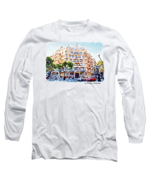 La Pedrera Barcelona Long Sleeve T-Shirt