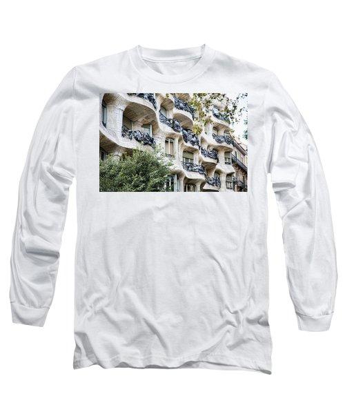 La Pedrera Casa Mila Gaudi  Long Sleeve T-Shirt