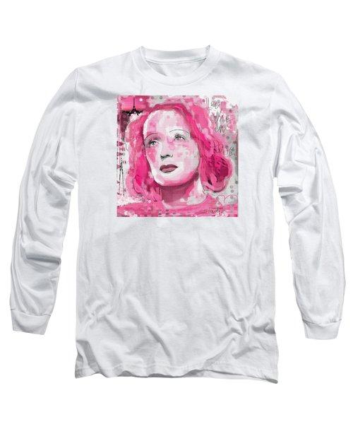Long Sleeve T-Shirt featuring the digital art La Vie En Rose by Sladjana Lazarevic
