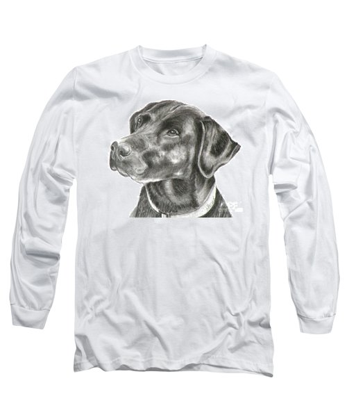 Lab Charcoal Drawing Long Sleeve T-Shirt