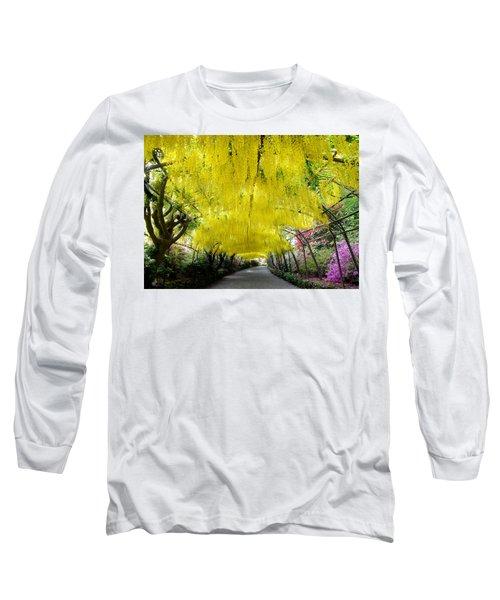 Laburnum Arch, Bodnant Garden Long Sleeve T-Shirt
