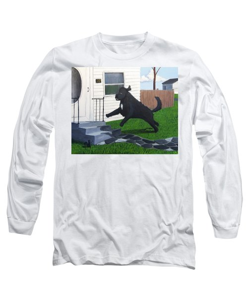 Lady Leaps The Small Front Stairs Long Sleeve T-Shirt
