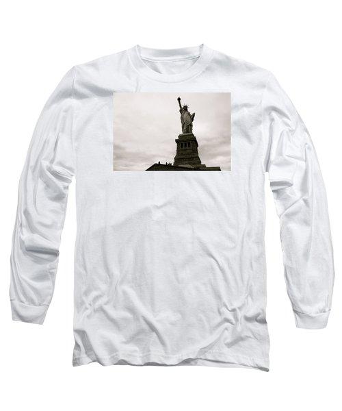 Lady Liberty Long Sleeve T-Shirt by Mark Nowoslawski