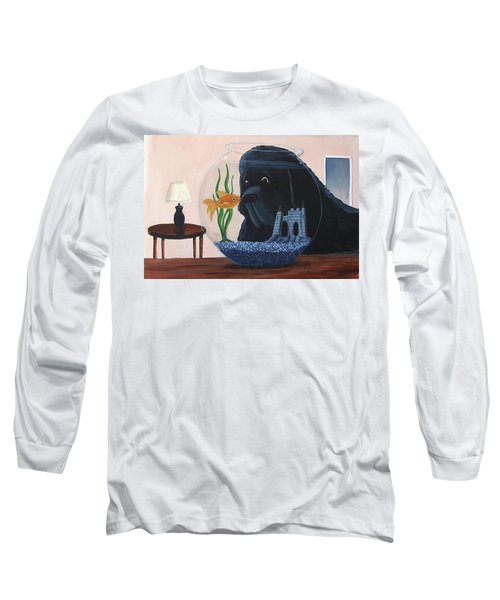 Lady Looks In The Fish Bowl For Mommy And Daddy Long Sleeve T-Shirt