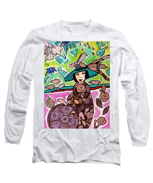 Lady Of The Birds Long Sleeve T-Shirt