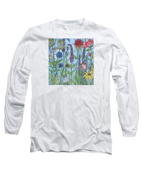 Lady Slipper In My Garden  Long Sleeve T-Shirt