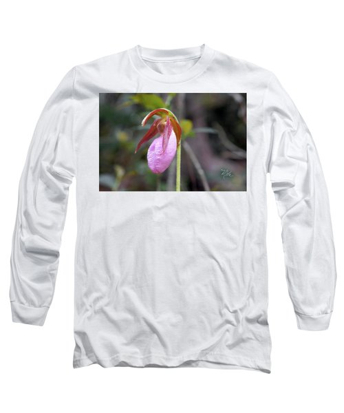 Lady Slipper Orchid Long Sleeve T-Shirt