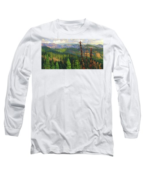 Long Sleeve T-Shirt featuring the painting Ladycamp by Steve Henderson