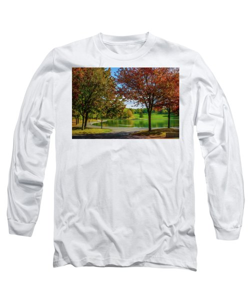 Lagoon Park In Montreal Long Sleeve T-Shirt