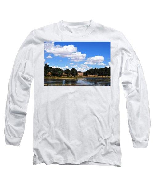 Lake Cuyamac Landscape And Clouds Long Sleeve T-Shirt