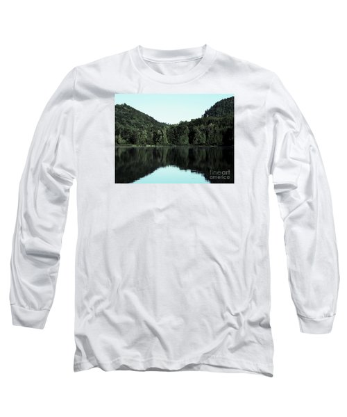 Long Sleeve T-Shirt featuring the photograph Lake Landscape by France Laliberte