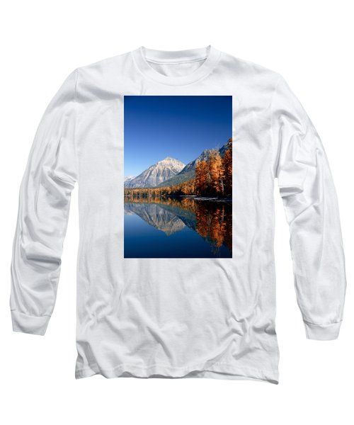 Lake Mcdonald Autumn Long Sleeve T-Shirt by Lawrence Boothby