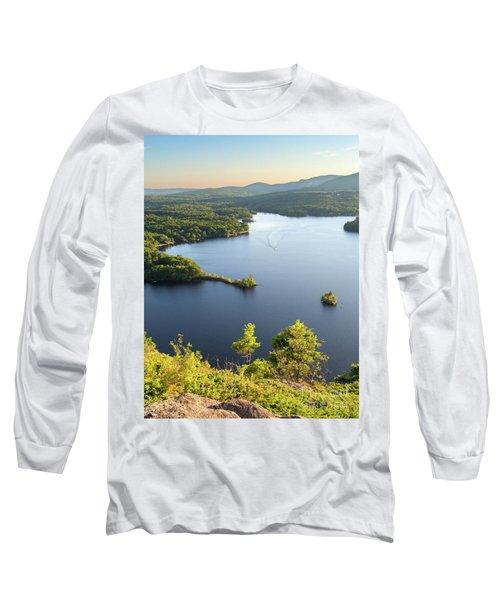 Lake Megunticook, Camden, Maine  -43960-43962 Long Sleeve T-Shirt