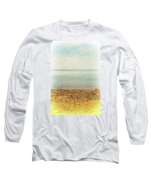 Long Sleeve T-Shirt featuring the photograph Lake Michigan With Stony Shore by Michelle Calkins