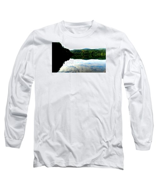 Lake Padden Cloud Reflection Long Sleeve T-Shirt by Karen Molenaar Terrell