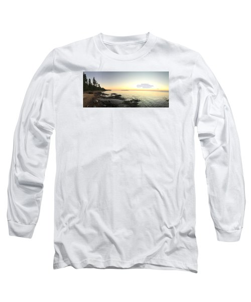 Long Sleeve T-Shirt featuring the photograph Lake Superior Evening Sky by Paula Brown