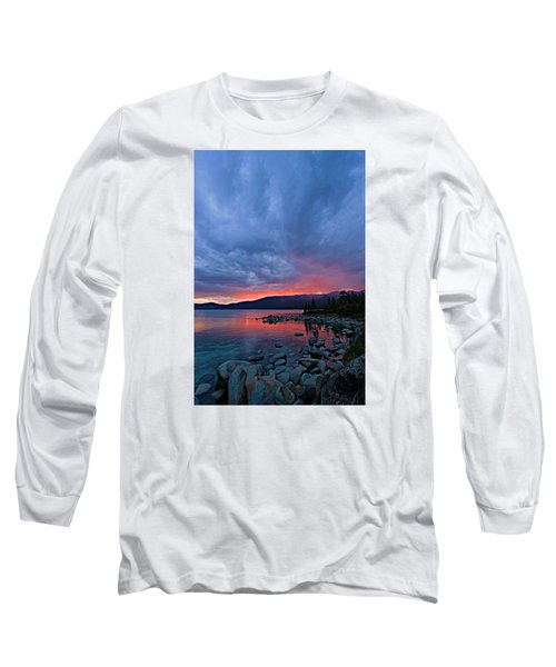 Lake Tahoe Sunset Portrait 2 Long Sleeve T-Shirt by Sean Sarsfield