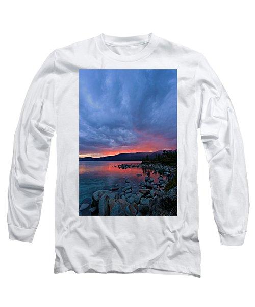 Lake Tahoe Sunset Portrait 2 Long Sleeve T-Shirt
